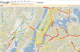 Google Maps Live Traffic Overlay New York Rush Hour