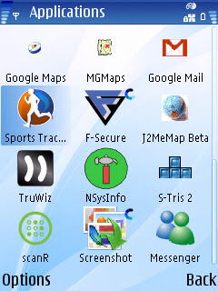 Mapperz N95 installed apps