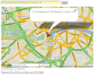 UK Geocoder Addresses - 10 Downing Street