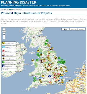Planning Disaster Map UK