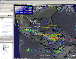 Hurricane Dean Tracked