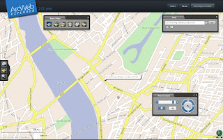 ArcWeb Explorer 2 (beta) - Rotated Map