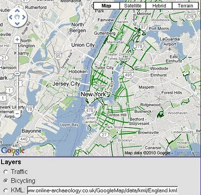 Bike Routes Google Maps API v3