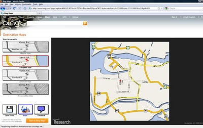 Bing Destination Maps Apps save styles