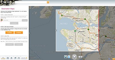 Bing Destination Maps Apps