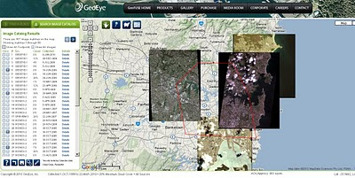 Geofuse - GeoEye Images by Map