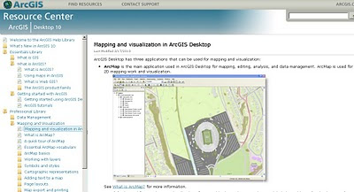 ArcGIS 10 resource centre open