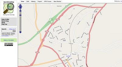 OS OpenData StreetView OSM Potlatch Redruth