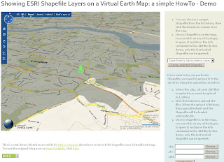 Virtual Earth Overlay Shapefiles - 3D Mode