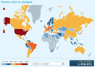 Firefox 3 Pledge Map