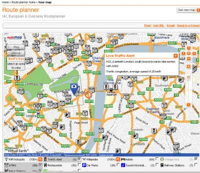 RAC RoutePlanner - Virtual Earth