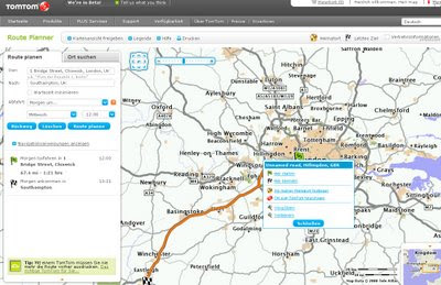 TomTom Route Planner - German