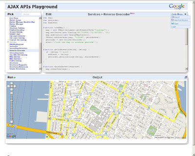 Interactive Google Maps API Playground
