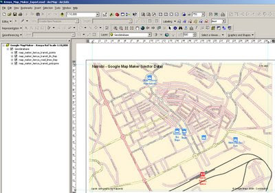 Google Map Maker- Kenya Vector in ArcMap