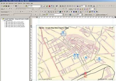 Google Map Maker- Kenya Vector in ArcMap