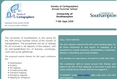 Society of Cartographers - CALL FOR PAPERS