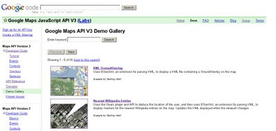 Google Maps API version 3 - Brand New