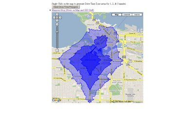 Interactive ESRI Drive Time Google Map
