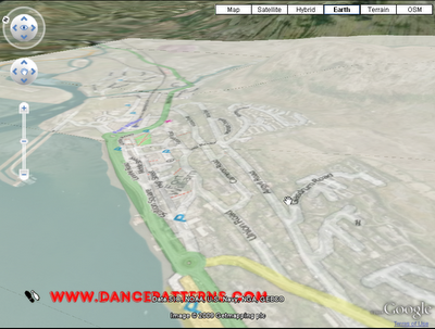 Open Street Map in 3D using Google Earth plug-in - Fort William
