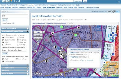 MSN UK - Local Maps with Local Information