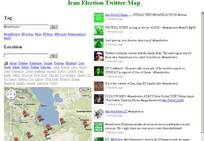 Iran Twitter Map - Map Channels