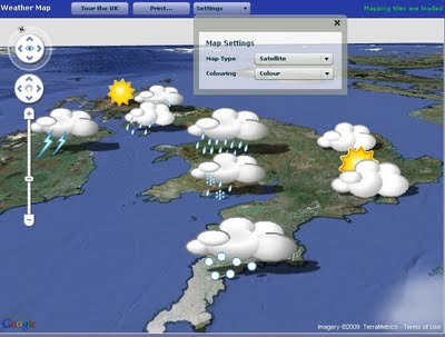 Flash Map Google UK Weather