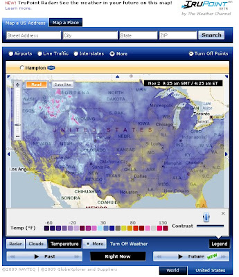 Weather.com Temperature Bing Future Map Beta