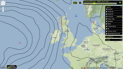 Faster Met Office Pressure Map