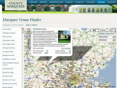 Marquee Venues Mapped