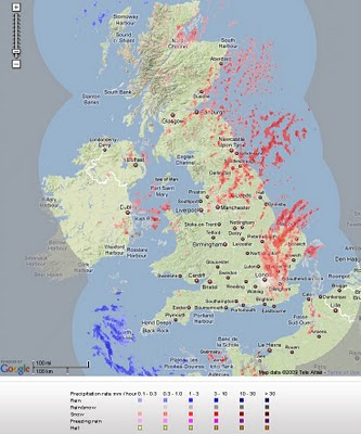 Live Snow Radar - UK Map