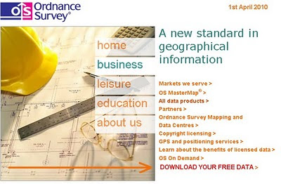 Ordnance Survey Website April 2010