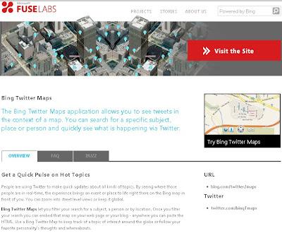 Microsoft FuseLabs Bing Maps Twitter