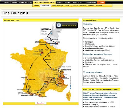 Official Maps The Tour France 2010