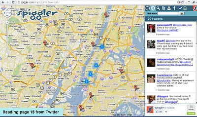 Spiggler - Twitter Google v3 Map