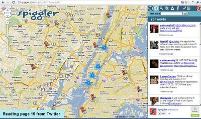 Spiggler - Twitter Google v3 Map