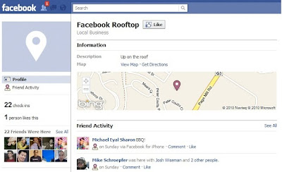 Facebook Places Bing Maps