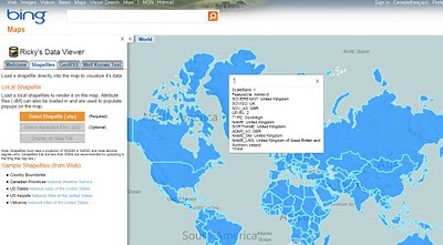 Bing Maps Shapefile Viewer