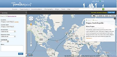 TravellersPoint.com Map