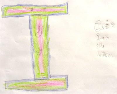 desenho da letra I
