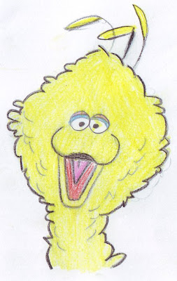 desenho do Poupas - drawing of Big Bird