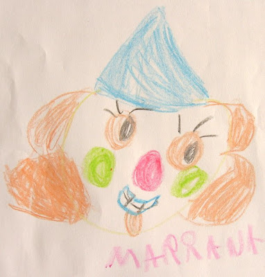 desenho da cara de um palhaço