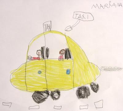 desenho de um táxi