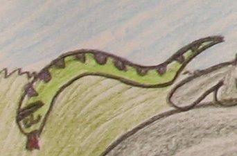 desenho de uma cobra