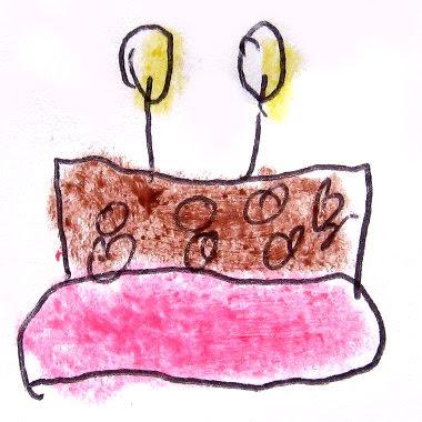 Desenho de um bolo