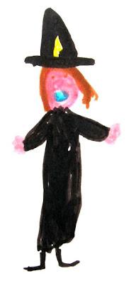 Desenho de uma bruxa.
