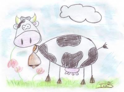 Desenho de uma vaca