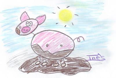 Desenho de um porco