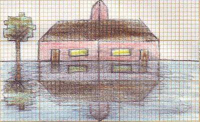 Desenhos em papel milimétrico