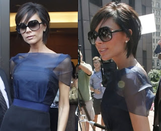 Victoria Beckham sporting her longer crop with side swept fringe.