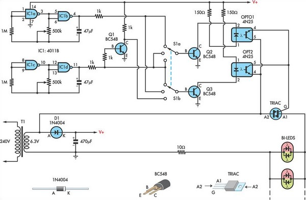 Using AC for LED Christmas lights circuit schematic